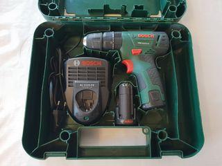Taladro percutor, Bosch PSB, 2 baterias + cargador