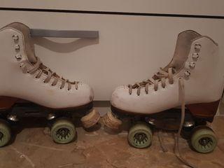 patines de patinador profesional