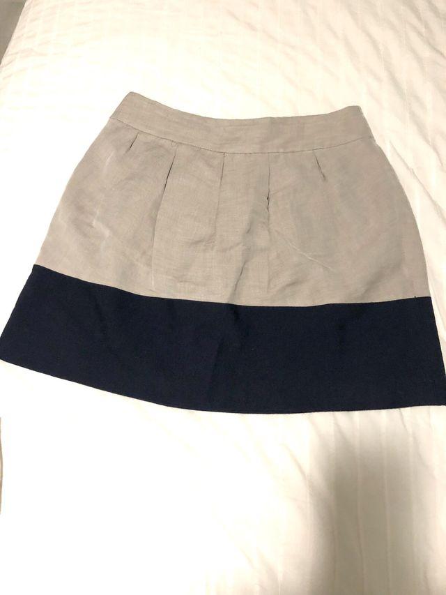 Falda bicolor zara