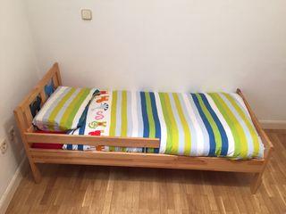 Cama infantil con colchón viscoelástico
