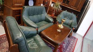Sofas de Piel Verde Rusticos
