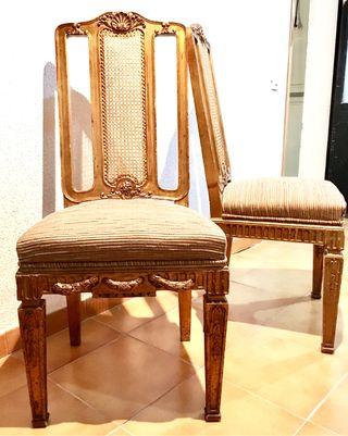 Espectacular pareja sillas antiguas