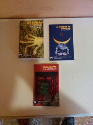 Los Mitos de Cthulu. 3 libros bolsillo.