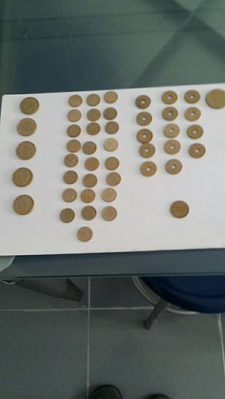 monedas (pesetas)