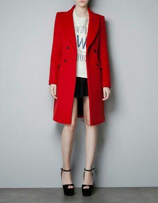 Abrigo nuevo rojo ZARA
