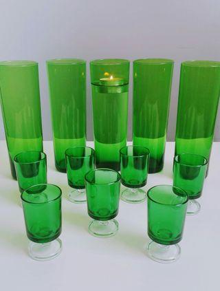 Copas licor y vasos tubo
