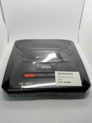 Consola Sega Mega Drive 2 + cables + mando