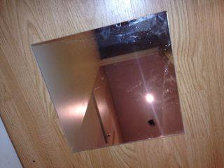 espejos cuadrados * 12 unidades el lot/ pared