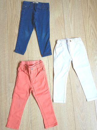 GANGA. 3 pantalones talla 2-3 años. PERFECTOS