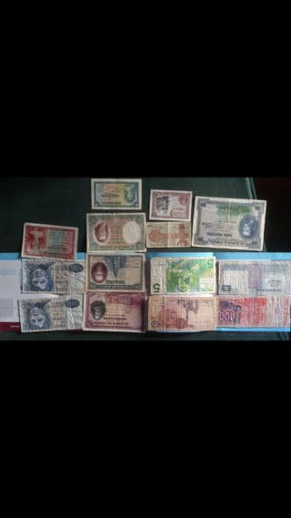 Billetes antiguos de pesetas