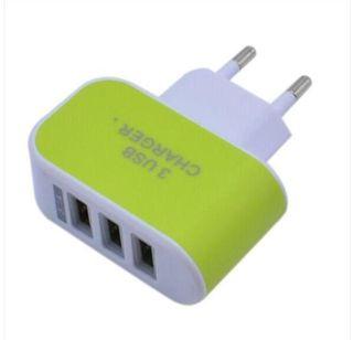 cargador de pared 3 puertos USB