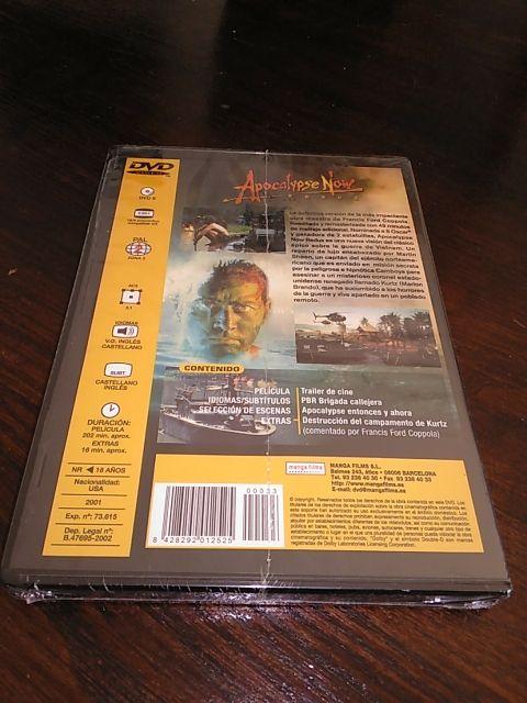 DVD APOCALYPSE NOW REDUX precintado/nuevo