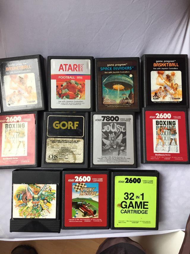 Lote De 11 Juegos Atari De Segunda Mano Por 8 En Madrid En Wallapop