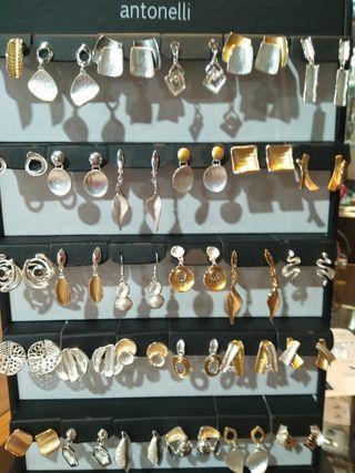 pendientes bronce chapado en oro o plata de ley
