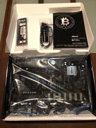 Nueva placa ASRock H110 Pro BTC