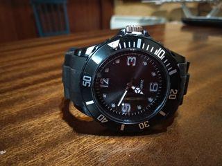 Reloj analógico Quartz - Negro