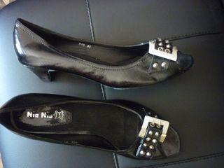 zapato sandalia hebillas mujer negros, 41 nuevos