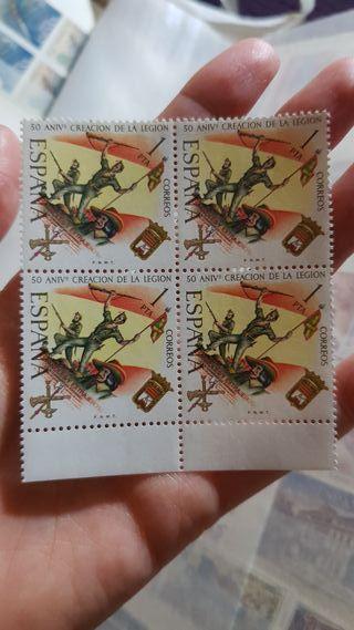 Lote de sellos 50 aniversario de la Legion