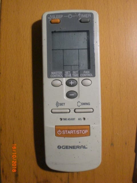 Control Remoto para FUJITSU-GENERAL modelo AR-JW3