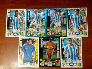 7 Cromos Málaga Liga BBVA 2015-16