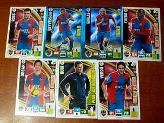 7 Cromos Levante Liga BBVA 2015-16