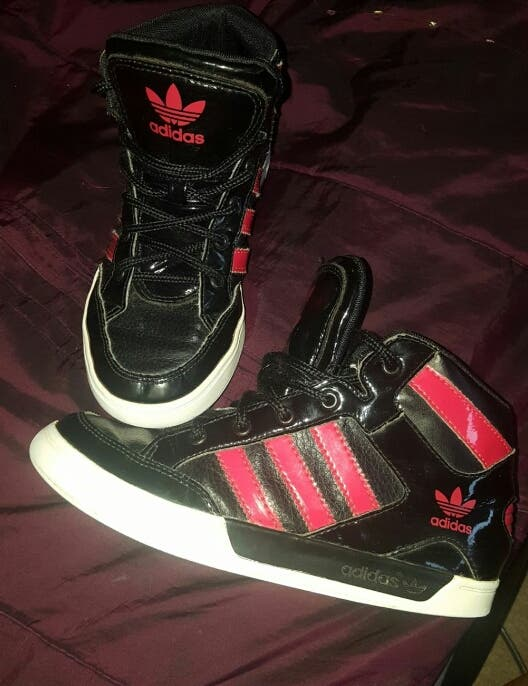 adidas hi-top trainers boys size uk1.5