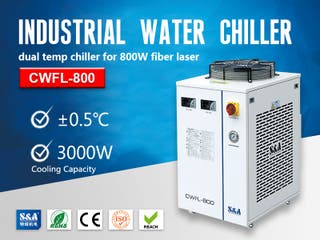 S&A small water chiller CWFL-800 for fiber laser