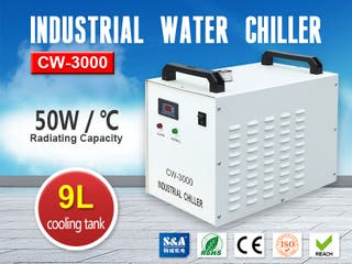 S&A Industrial Chiller CW-3000 for CNC Spindle