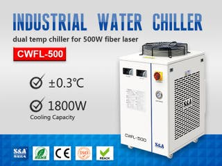 S&A water chiller CWFL-500 for cooling fiber laser