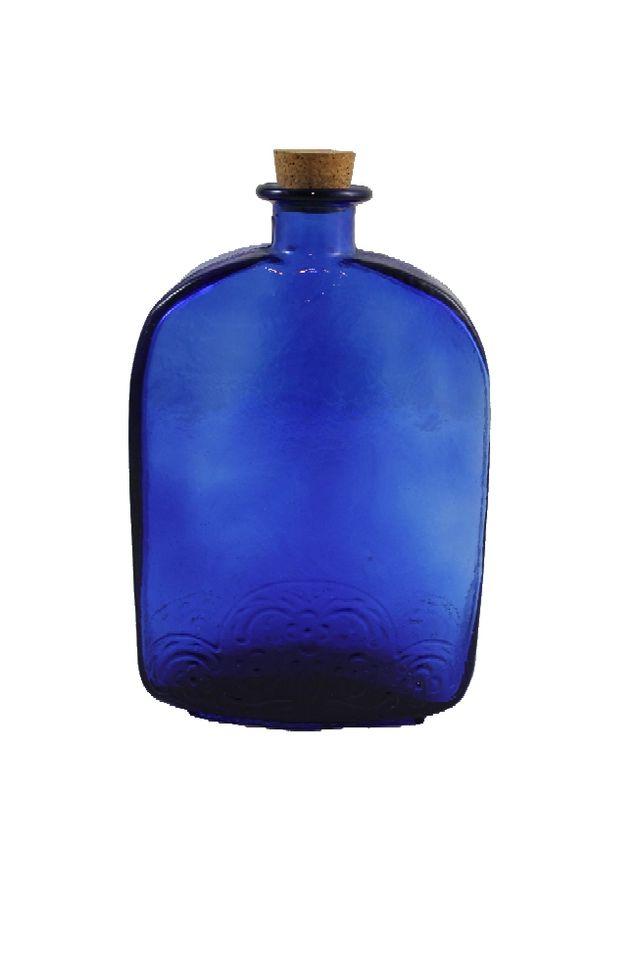 Botella de farmacia grande de cristal