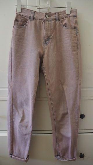 Jeans rosa desgastado mum