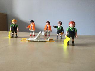 Playmobil árbitros y camilleros futbol