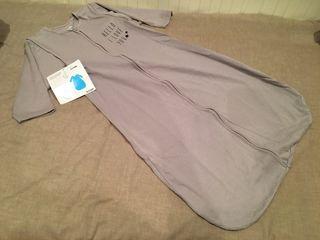 Saco dormir bebé algodón gris. T6-24M