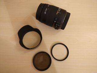 objetivo para Canon Sigma OS 18-250 + parasol