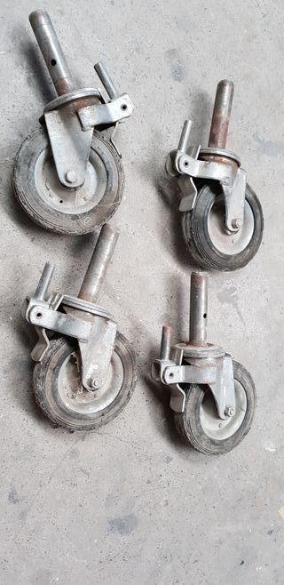 juego 4 ruedas andamio
