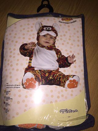 Disfraz 6-12 meses tigre
