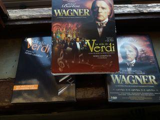 Wagner (R. Burton) y vida Verdi. (10 DVDs)