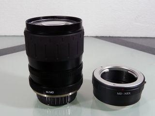 Adaptador a sony alpha nex mas objetivo 28-80mm