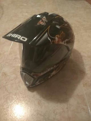 Casco de cross con visera