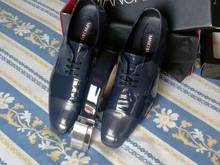 zapatos y cinto de novio