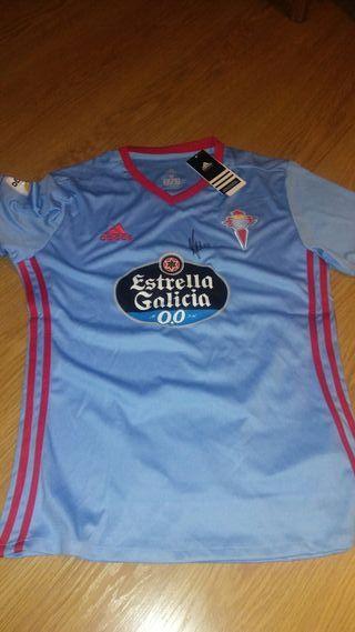 Camiseta de futbol del Celta de Vigo:con autógrafo