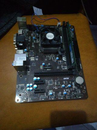 placa base + 4gb ram + procesador