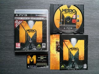 Vendo Metro Last Light para PlayStation 3