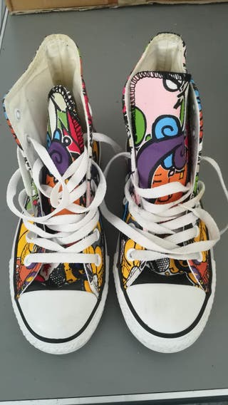 CONVERSE ALL STAR Sticker Graffiti Print 36.5 UK4
