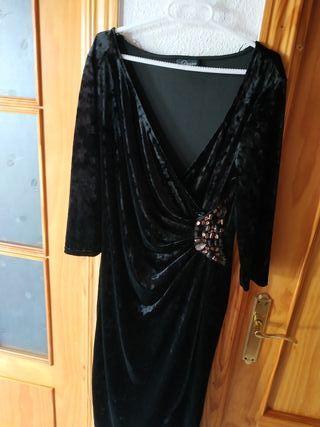 vestido fiesta negro terciopelo talla 40
