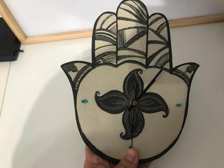 Reloj de cerámica ... artesanal, hecho a mano!!