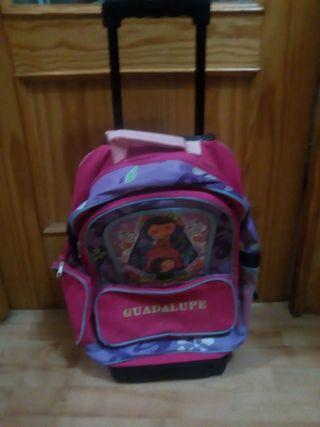 mochila escolar con carro