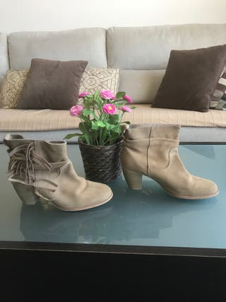 Botines color beige