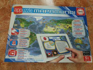 puzzle mapamundi 6 años