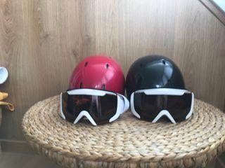 Casco y gafas esquí